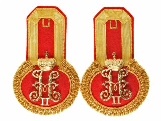 Staff Captain Officers dress epaulettes, His Majesty