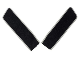 Collar Insignia, White Movement (White Army), Low Ranks, Black Color, White Piping, Russia, Replica