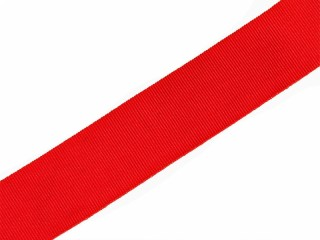 Broad ribbon of the Order of Saint Alexander Nevsky 2,8cm wide silk bright red, Russian Imperial WWI, Replica