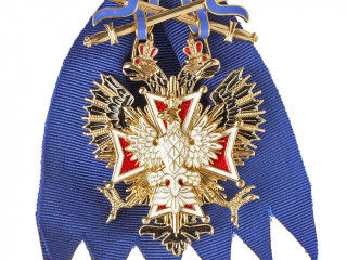 Russian Imperial Order Of White Eagle with swords, Replica