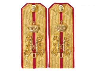 Guards Rifle Officers Shoulder boards Nicholas II cyphers Russian Imperial Army
