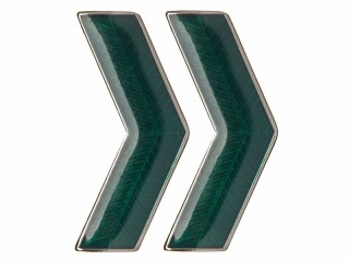 VV GUGB NKVD Collar Rank Insignia badge green white bordered, USSR, replica