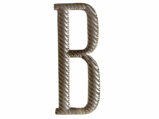 "Russian alphabet capital letter ""B"" cypher 32 mm on shoulder boards silver Imperial Russia WWI"