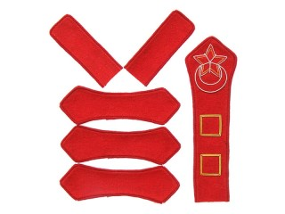 Azerbaijan Red Army artillery company commander patches set type 1922, USSR WW2, replica