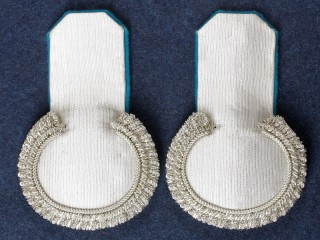 Officers guards Eupalets Imperial Russia Topographers, Silver with light blue underlay.Russia. Replica