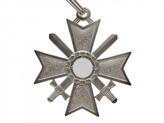 Knights Cross of the War Merit with Swords in silver (Ritterkreuz des Kriegsverdienstkreuzes), Germany WW2, replica