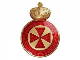 Order of Saint Anna badge of the Order 31x 22 mm 4th class on edged weapon, Russian Imperial WWI