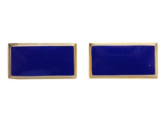 RKM (Militsiya) Collar Tabs Rank Insignia rectangle badges brass blue enameled, USSR WW2