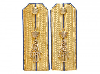 Captain officers dress shoulder boards, 68th Borodino Emperor Alexander III Regiment, Russian Army RIA WWI