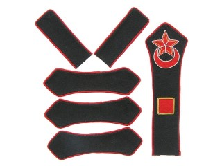 Azerbaijan Red Army artillery platoon commander patches set type 1923, USSR WW2, replica