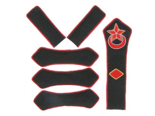 Azerbaijan Red Army artillery brigade commander patches set type 1923, USSR WW2, replica