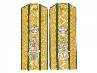 Russian Imperial Army shoulder boards, 2nd Life-Hussar Pavlograd Regiment, Polkovnik / Colonel Russia