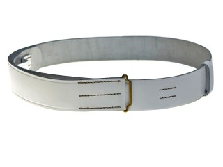 Life Guards White Leather Waist Belt, Russia, Replica