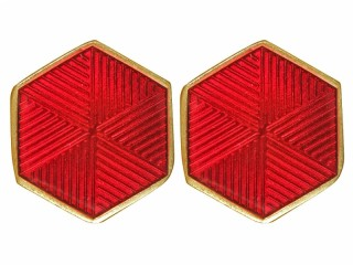 Collar Tabs rank insignia hexagon emblem m1930-1943 People`s Commissariat for Railways USSR