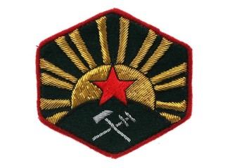 Red Army GVHU Sleeve Insignia, Main military chemical department 1922 Type, RKKA RSFSR WW2, Russia, Replica