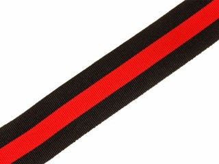 Ribbon of the Order of Saint Vladimir 4th Class Cross, silk red with black order