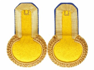 Officers Eupalets 2nt grenadiers division, yellow, gold, blue pipped. Replica