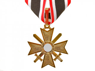 Knights Cross of the War Merit with Swords in Gold (Ritterkreuz des Kriegsverdienstkreuzes), Germany WW2, replica