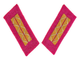 Parade Collar Insignia, Senior Officers, Infantry, Combat Personnel, 1943 Type, RKKA, USSR, Replica