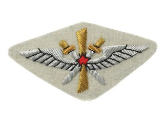 Red Army Air Force uniform shoulder sleeve insignia patch model 1920-1930 white cloth, USSR WW2, replica
