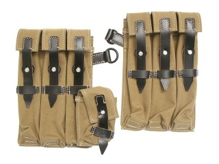 Pair MP38/40 Magazine pouches,canvas