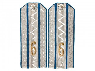 Cavalry Officers 6th Hussars Klyastitsky Regiment shoulder boards, Polkovnik, Colonel, Russian Imperial Army, Replica
