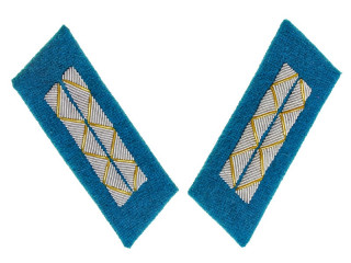 Parade Collar Insignia, Senior Officers, Air Forces, Non-Combat Personnel, 1943 Type, RKKA, USSR, Replica