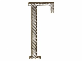 "Russian alphabet capital letter ""Г"" cypher 32 mm on shoulder boards silver Imperial Russia WWI"