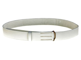 Life Guards White Leather Waist Belt, Russia RIA WWI, Replica
