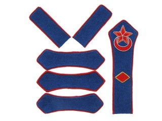 Azerbaijan Red Army cavalry brigade commander insignia patches set type 1922, USSR WW2, replica