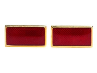 RKKA NKVD Collar Tabs Rank Insignia rectangle badges brass red enameled, USSR WW2
