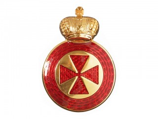 Badge of the Order of Saint Anna medallion 44 x 31mm 4th class on edged weapon