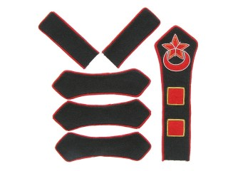 Azerbaijan Red Army artillery company commander patches set type 1923, USSR WW2, replica