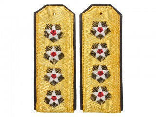 Naval officers Admiral of the Fleet dress uniform shoulder boards M1943, USSR WW2