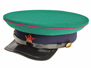NKVD Officer Peaked Cap, Border-Security Forces, 1935 Type, USSR, Replica