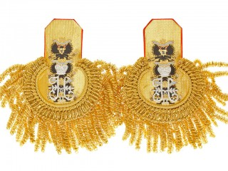 Admiral Eupalets Imperial Russia Guard Gold with red underlay, Russian Imperial Navy WWI, replica