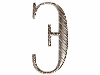 "Russian alphabet capital letter ""Э"" cypher 32 mm on shoulder boards silver Imperial Russia WWI"