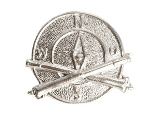 Field Artillery Scout Badge, White, Russian Imperial, Replica