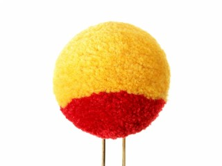 Pom pom for shako hat m1811 yellow with red strip soldier