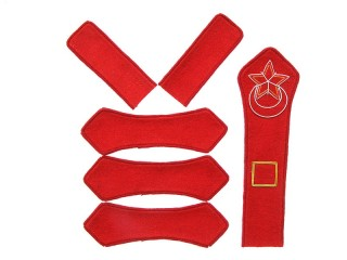 Azerbaijan Red Army artillery platoon commander patches set type 1922, USSR WW2, replica