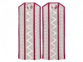 Hussars Officers daily Shoulder Boards, Staff-Officers, raspberry base white field, RIA WWI, replica