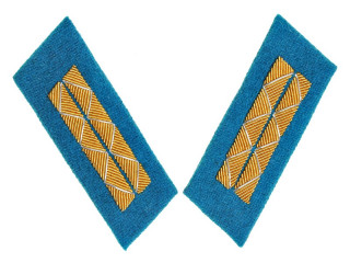 Parade Collar Insignia, Senior Officers, Air Forces, Combat Personnel, 1943 Type, RKKA, USSR, Replica