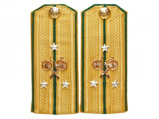 Ober Officers Poruchik shoulder boards, Imperial Russia RIA WWI