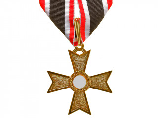 Knights Cross of the War Merit without Swords in Gold (Ritterkreuz des Kriegsverdienstkreuzes), Germany WW2, replica