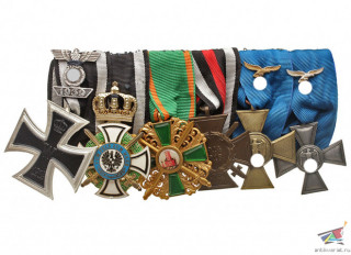 Award medal ribon bar, set of awards, Germany WW2, replica