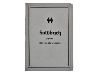 Soldbuch, Waffen SS, Late Model 1942-1945, Germany, Replica
