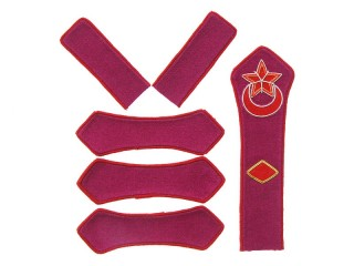 Azerbaijan Red Army infantry brigade commander patches set type 1923, USSR WW2, replica