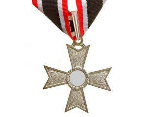 Knights Cross of the War Merit without Swords in silver (Ritterkreuz des Kriegsverdienstkreuzes), Germany WW2, replica