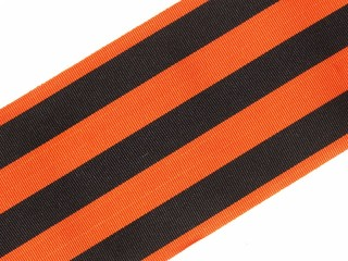 Broad ribbon of the Order of St. George 1st Class 10 cm wide, orange with black stripes order