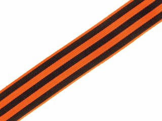 Ribbon of the Order of St. George for Cross, Medal ribbon bar, orange with black stripes order